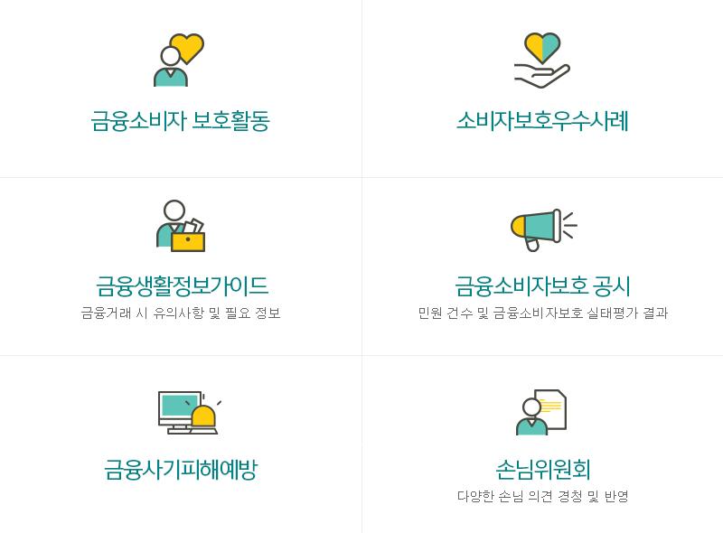 KEB하나소비자세상 메뉴