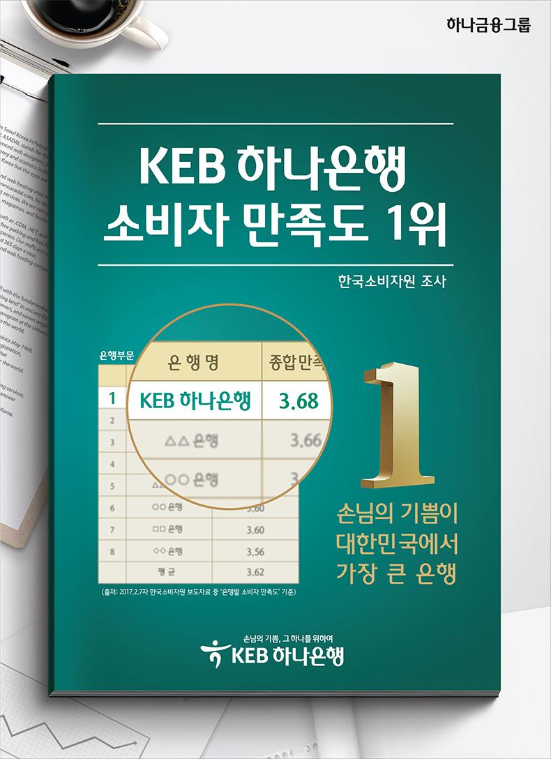 KEB하나은행, 『소비자만족도 최고은행』 선정
