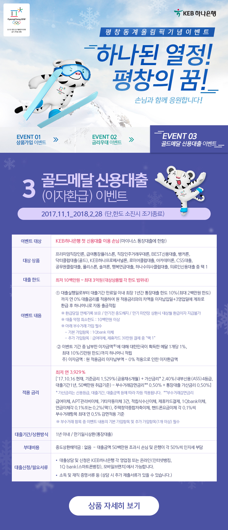 EVENT 03 골드메달 신용대출(이자환급) 이벤트
