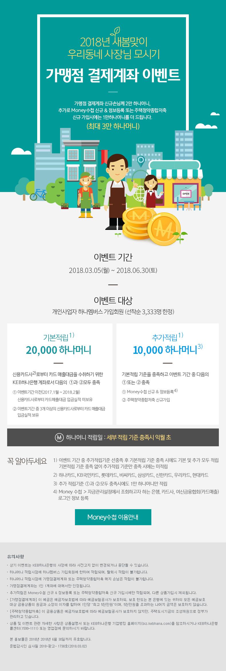 2018년 새봄맞이 우리동네 사장님 모시기. 가맹점 결제계좌 이벤트