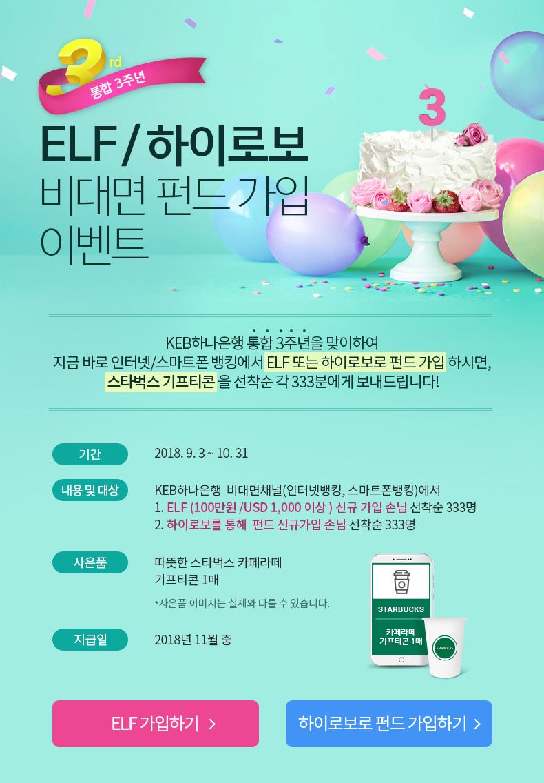 ELF/하이로보 비대면 펀드 가입 이벤트